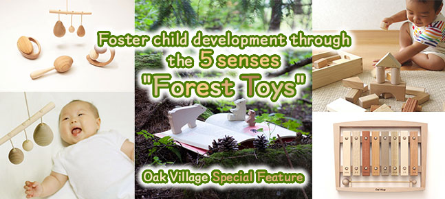 "Foster child development through the 5 senses ""Forest Toys"" / Oak Village Special Feature"